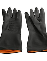 Thick Black Industrial Gloves With Acid and Alkali