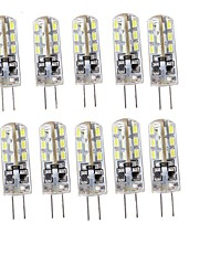 1.5 G4 Luces LED de Doble Pin T 24 SMD 3014 75 lm Blanco Cálido / Blanco Fresco Decorativa DC 12 V 10 piezas