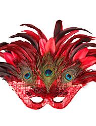 dança da máscara do partido do disfarce da princesa grande pavão máscara de penas mulheres meia máscara protectora