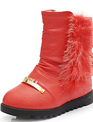 Girl's Boots Fall / Winter Snow Boots / Fashion Boots Leatherette Outdoor / Casual Flat Heel Zipper