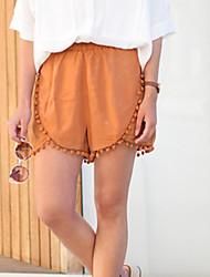 Damen Hose - Einfach Kurze Hose Polyester Dehnbar