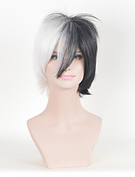 1B/White Multi-Color Curly Women Fashion European and American Cosplay Synthetic Wigs