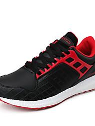 Femme-Extérieure / Décontracté / Sport-Rouge / Blanc / Orange-Talon Bas-Confort-Sneakers-Cuir