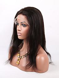 Перуанские девственные шелковистые человеческие волосы прямые кружева передние парики с волосами младенца быть хвостик для Африки