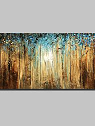 Pintada a mano Abstracto Paisaje Floral/Botánico Paisajes Abstractos Horizontal,Modern Un Panel Lienzos Pintura al óleo pintada a colgar