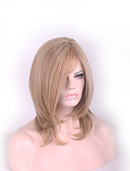High Quality Medium Length Women Wigs Natural Hair Heat Resistant Straight Wig Synthetic Wigs Woman Long