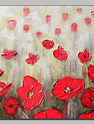 IARTS Red Poppy Floral Paintings Handmade MDF Frame Wall Art Fast Delivery