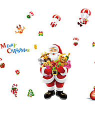 Glass Window Film Colorful Flower Glass Stickers Merry Christmas Christmas window