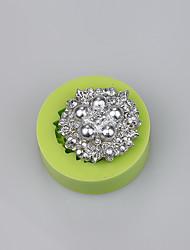 Материал силикона качества еды творческий ювелирные изделия форменный цвет украшения торта формы случайный