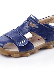 Jungen-Sandalen-Lässig-Leder-Flacher Absatz-Sandalen-Blau / Gelb