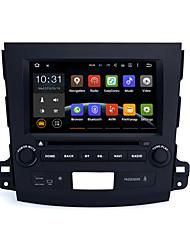 núcleo 8quad 1024x600 android dvd 5.1.1 carro para Mitsubishi Outlander 2006-2012 bt 3G wi-fi RDS ligação espelho