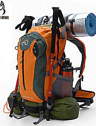 40 L Rucksack Camping & Wandern / Reisen Draußen / Leistung Schnell abtrocknend / Stoßfest / tragbar / Multifunktions DunkelrosaNylon /
