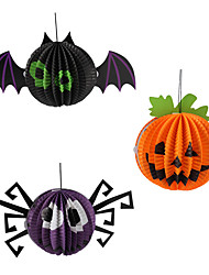 Funny Halloween Pumpkin Spider Bat Lamp Paper Lanterns Decoration Party