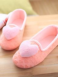 Women's Slippers & Flip-Flops Spring Fall Comfort Fleece Casual Flat Heel Others Pink Gray Others
