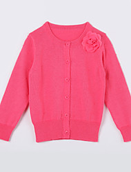Girl's Casual/Daily Solid Sweater & CardiganCotton Red