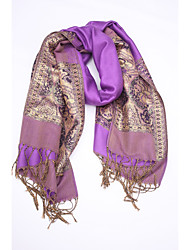 Women Cotton / Polyester Scarf,Vintage / Work / Casual Rectangle / Infinity ScarfJacquard