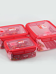 Microwave Safe Set of 3pcs Plastic Lock and Seal Food Container