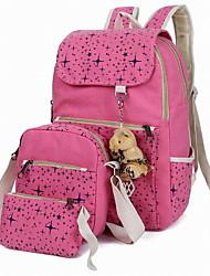 Women Canvas / Polyester Barrel Shoulder Bag / Wallet / Backpack-Multi-color3Pcs/Set)