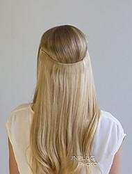 20-Zoll-reales Menschenhaar Halo Geheimnis unsichtbaren Draht Haarverlängerungen 25cm Breite 80g