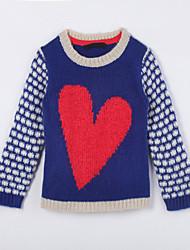 Pull & Cardigan Fille de Imprimé Décontracté / Quotidien Coton Automne Bleu