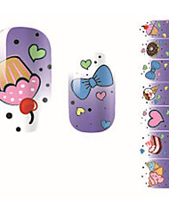 Fashion Sweet Cake Love Bow Nail Decal Art Sticker Gel Polish Manicure Beautiful Girl