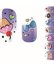 Fashion Sweet Cake Love Bow Nail Decal Art Sticker Gel Polish Manicure Beautiful Girl