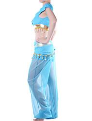 Fantasias de Cosplay Festa a Fantasia Princesa Conto de Fadas Festival/Celebração Trajes da Noite das Bruxas Azul Cor Única Blusa Calças