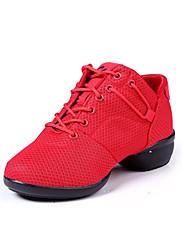 Zapatos de baile(Negro / Rojo) -Moderno-No Personalizables-Tacón Bajo