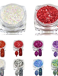8pcs, one set Nagel-Kunst-Dekoration Strassperlen Make-up kosmetische Nail Art Design