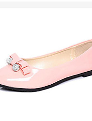 Women's Flats Spring / Fall Comfort Leatherette Outdoor / Casual Flat Heel Bowknot Black / Pink / White Others