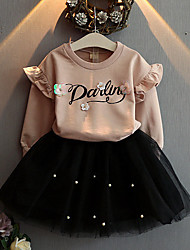 Girl's Casual/Daily Floral Clothing SetRayon Spring / Fall Pink
