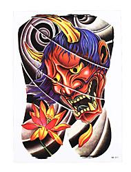 1pc Women Men Waterproof Temporary Body Art Tattoo Demon Lotus Picture Tattoo Sticker Summer Style Design HB-311