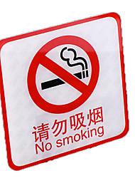 grands stickers muraux acryliques cartes fumeur aucun signe de fumer sans conseils fumeurs marque signalisation