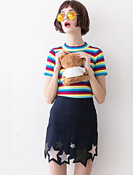 Damen Röcke - Einfach Übers Knie Baumwolle Unelastisch