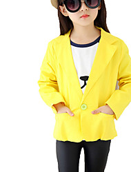 Girl's Casual/Daily Solid Jacket & CoatCotton Fall Red / Yellow