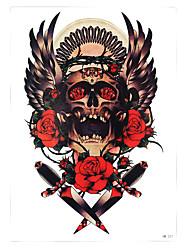 1 Tatuagem Adesiva Séries Totem Non Toxic / Estampado / Lombar / WaterproofFeminino / Masculino / Adulto Flash do tatuagemTatuagens