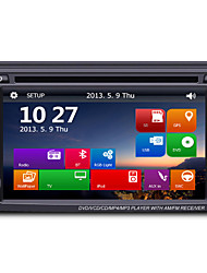 6.2 2Din TFT Touch Screen In-Dash Car DVD Player with GPS BT Radio SD/USB RDS  800*480Screen Resolution