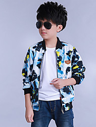 Boy's Casual/Daily Floral Jacket & CoatCotton / Rayon Spring / Fall Blue / Gray