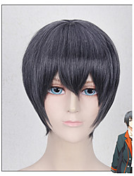 Short Length Grey Black Costume Men's Wig Cosplay Hairstyle - THE ANIMATION MUTSUKI HAJIME  Six Gravity April