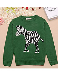 Boy's Casual/Daily Embroidered Sweater & CardiganCotton Winter / Spring / Fall Green / Red