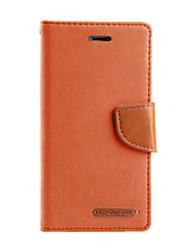 На все тело Визитница / бумажник / с подставкой Однотонные Искусственная кожа жесткий Для крышки случая Huawei Huawei Honor 7