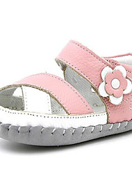 Girl's Sandals Spring / Summer / Fall Sandals PU Outdoor / Casual Flat Heel Bowknot Pink Walking