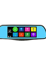 Android navigatore cane elettronico specchietto retrovisore 7 pollici registratore multifunzionale di guida