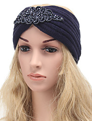 Women's Handmake Twisted Knitting Head Band Tie Cap