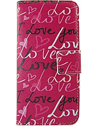Word Phrase Pattern PU Leather Flip Case with Magnetic Snap and Card Slot for Nokia Lumia N630/635/Lumia625/520