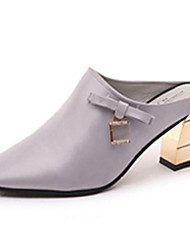 Women's Loafers & Slip-Ons Spring / Summer / Fall Slingback Leather Outdoor / Casual Low Heel Bowknot / Pearl