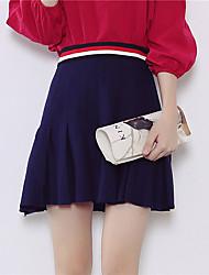 Damen Röcke - Einfach Mini Baumwolle / Polyester Dehnbar
