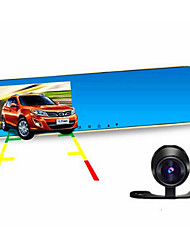 Driving Recorder Double Lens Wide-Angle Rearview Mirror Anti Pengci Anti Dazzle Parking Monitoring