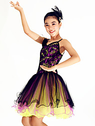 Ballet Dresses Women's Performance Spandex / Sequined Paillettes / Feathers / Lace / Ruffles / Sequins 1 Piece
