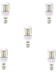 5pcs 24LEDS E14 LED Corn Lamp 5730SMD Light Bulb (AC220-240V)